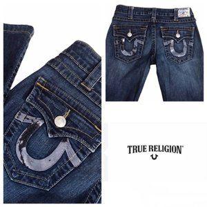 True Religion straight sequin jeans Sz 29